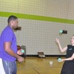 Reggie teaching me to juggle